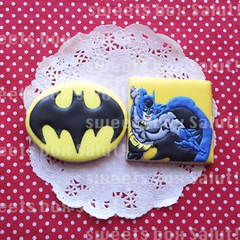 スパイダーマンとバットマンのアイシングクッキー2