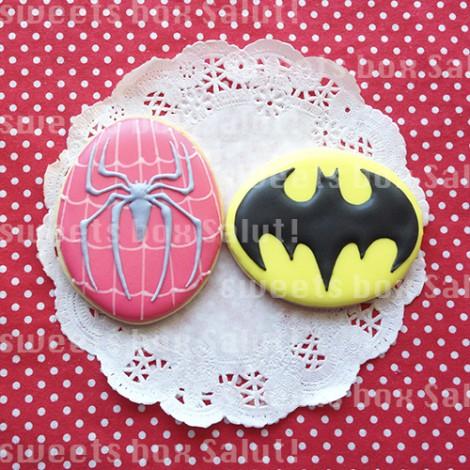 スパイダーマンとバットマンのアイシングクッキー4
