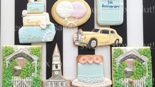 結婚1周年記念のアイシングクッキー
