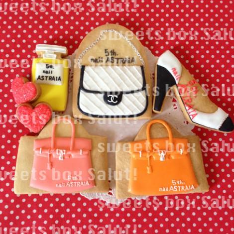 ネイルサロン5周年記念のアイシングクッキー