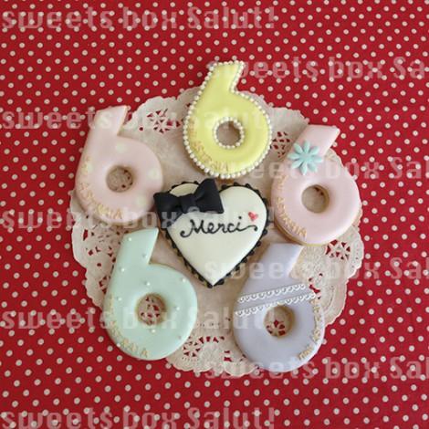 ネイルサロン6周年記念品のアイシングクッキー3