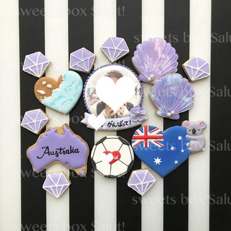 オーストラリア留学祝いのアイシングクッキー