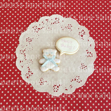 Baby girl 誕生祝いのアイシングクッキー5