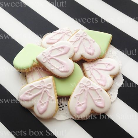 バレエ発表会用アイシングクッキー2