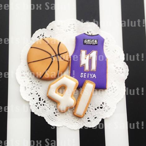 バスケットボールモチーフのアイシングクッキー3