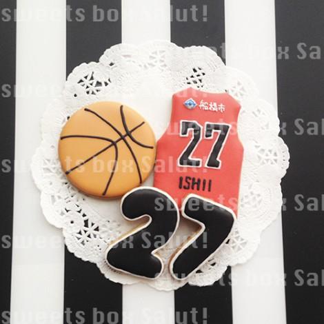 バスケットボールモチーフのアイシングクッキー4