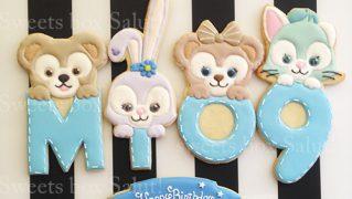 ディズニーキャラクターのお誕生日用アイシングクッキー