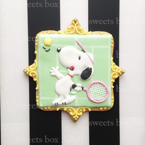 テニスモチーフのお誕生日アイシングクッキー1