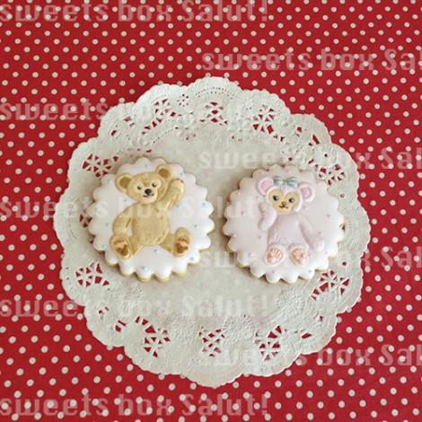 ダッフィー&シェリーメイのお誕生日用アイシングクッキー3
