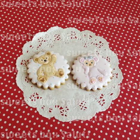 ダッフィー&シェリーメイのお誕生日用アイシングクッキー4