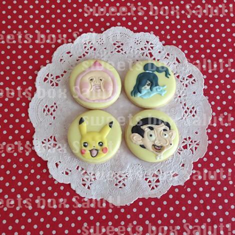 ピカチュウ、モモジリなどお誕生日のアイシングクッキー1