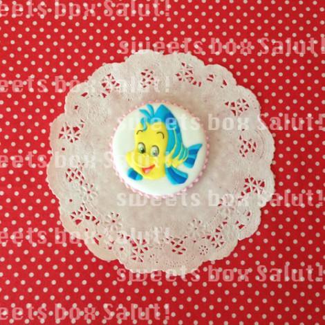 リトル・マーメイドキャラのお誕生日用アイシングクッキー3