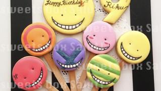 「暗殺教室」殺せんせーの誕生日用アイシングクッキー