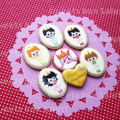 アイドルグループ 嵐モチーフのお誕生日用アイシングクッキー2