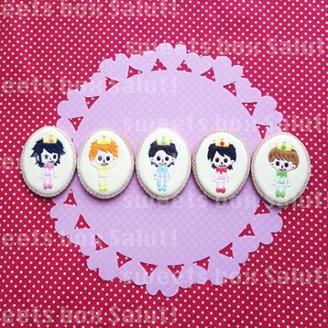 アイドルグループ 嵐モチーフのお誕生日用アイシングクッキー3