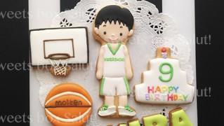 バスケ少年のお誕生日用アイシングクッキー