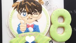 「名探偵コナン」のお誕生日用アイシングクッキー