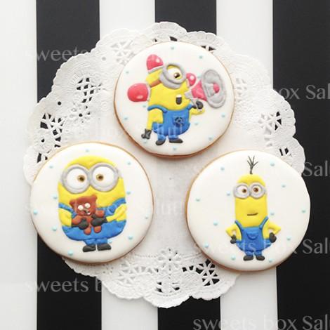 ミニオンズのお誕生日用アイシングクッキー2