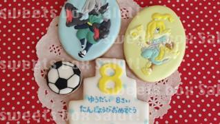 妖怪ウォッチキャラのお誕生日用アイシングクッキー