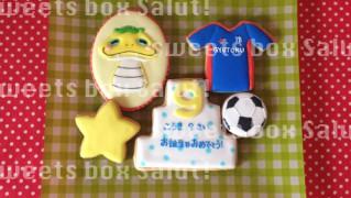 お友達同士 9歳のお誕生日のアイシングクッキー