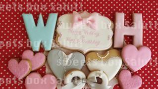 結婚&お誕生日のアイシングクッキー
