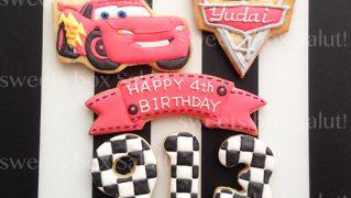 カーズのお誕生日用アイシングクッキー