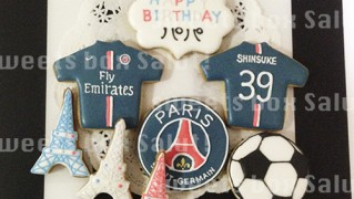 サッカー好きな方へのお誕生日用アイシングクッキー