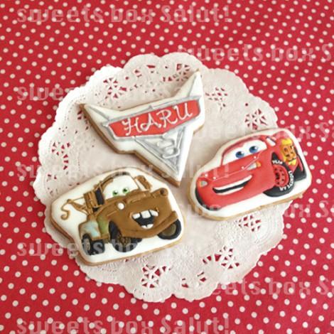 「カーズ」お誕生日のアイシングクッキー1