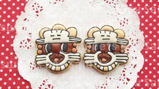 オリジナルキャラクターのアイシングクッキー
