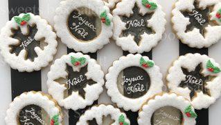 クリスマス用ステンドグラスアイシングクッキー