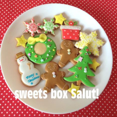 スノーマンなどクリスマスのアイシングクッキー