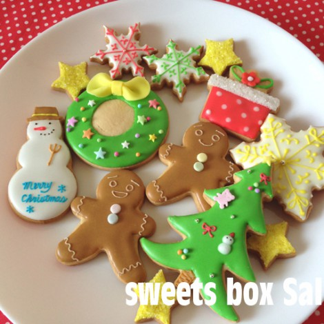スノーマンなどクリスマスのアイシングクッキー1