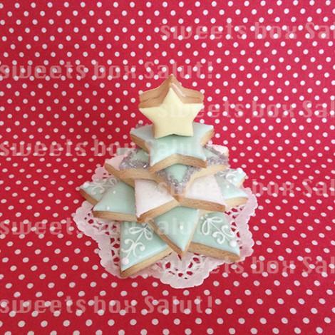 アイシングクッキーで作るクリスマスツリーとミニへクセンハウス3