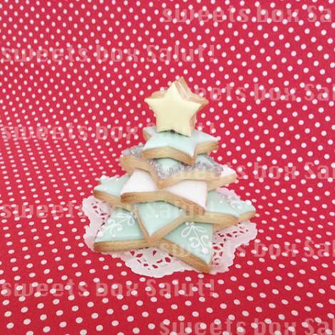 アイシングクッキーで作るクリスマスツリーとミニへクセンハウス4