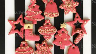 アイシングクッキーのクリスマスオーナメント