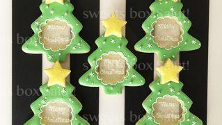 クリスマスツリーのステンドグラスアイシングクッキー