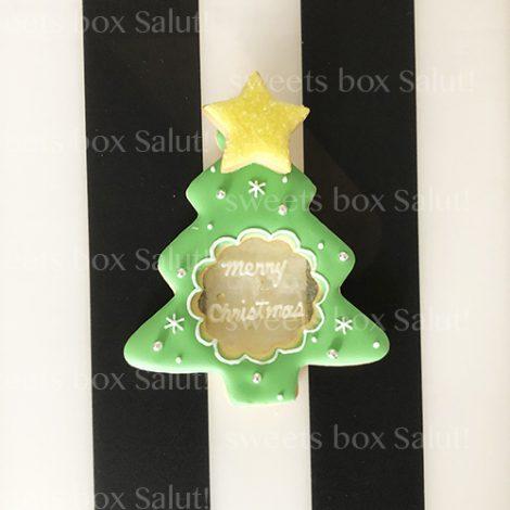 クリスマスツリーのステンドグラスアイシングクッキー1