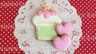 カップケーキのアイシングクッキー