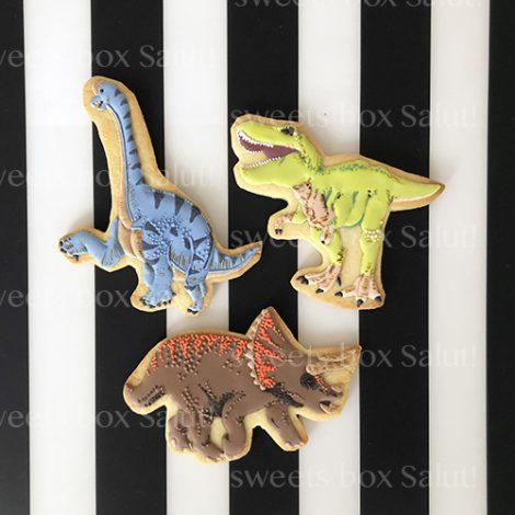 恐竜の誕生日アイシングクッキー2