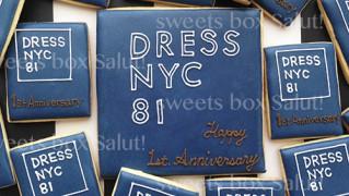 美容室オープン1周年記念アイシングクッキー