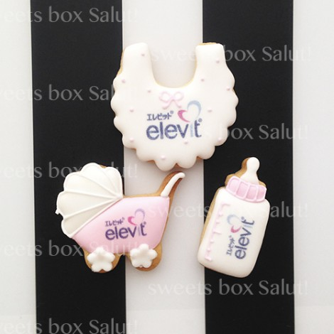 elevitロゴオリジナルプリントアイシングクッキー(カスタムデザイン)3
