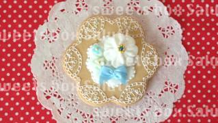 お花モチーフ エレガントなアイシングクッキー