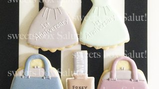 FOXEy仙台藤崎店さま1周年記念のアイシングクッキー