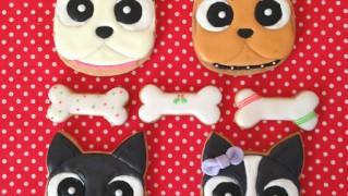 フレンチブルドッグのアイシングクッキー