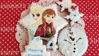 「アナと雪の女王」お誕生日用アイシングクッキー