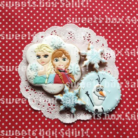 「アナと雪の女王」のお誕生日用アイシングクッキー1