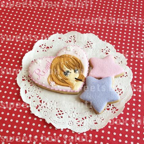 オリジナルイラストのお誕生日用アイシングクッキー2