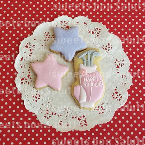 オリジナルイラストのお誕生日用アイシングクッキー4