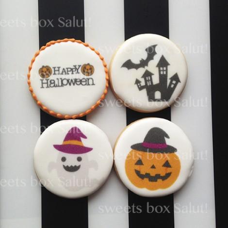 【お試しセット】ハロウィンデザインのプリントアイシングクッキー通販1