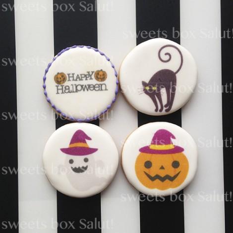 【お試しセット】ハロウィンデザインのプリントアイシングクッキー通販2